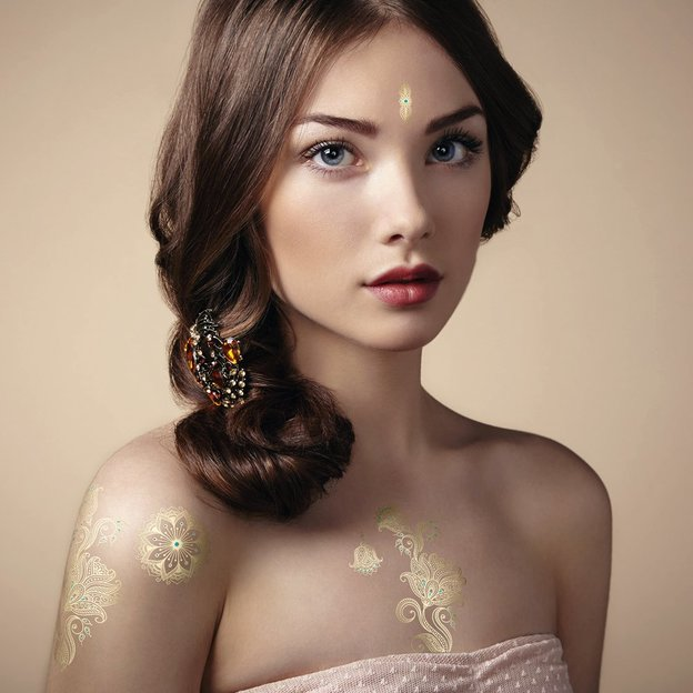 Flash Tattoos Golden Flower