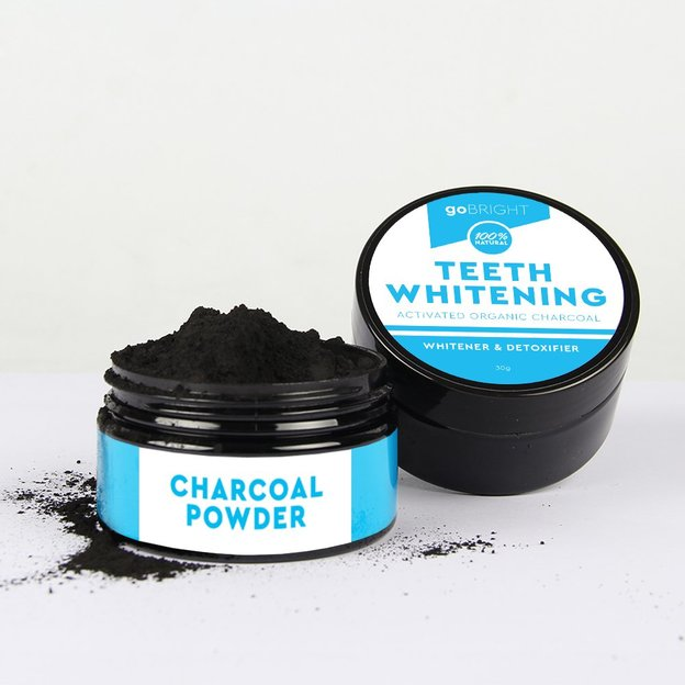 GoBright Charcoal Powder, poudre de blanchiment dentaire au charbon
