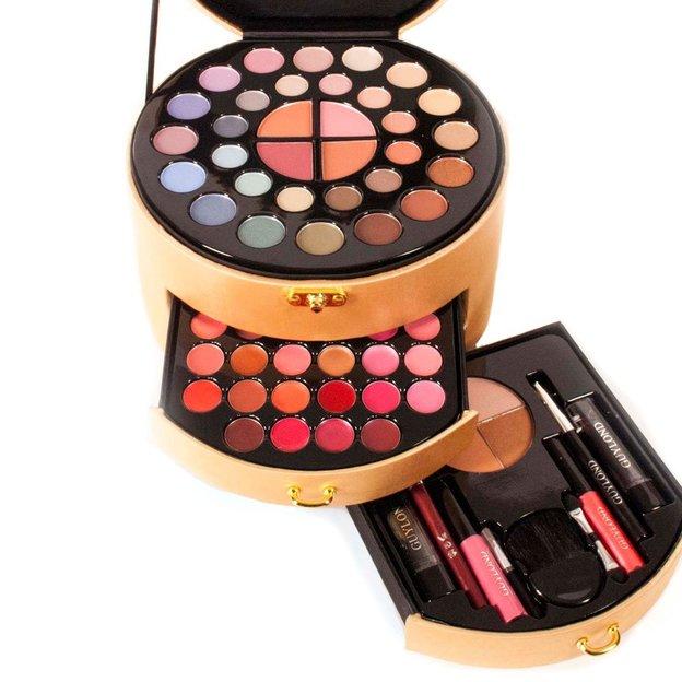 Beauty Case mit Make Up Gold