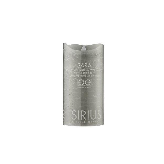 Sirius LED-Kerze Sara 15cm, Ash