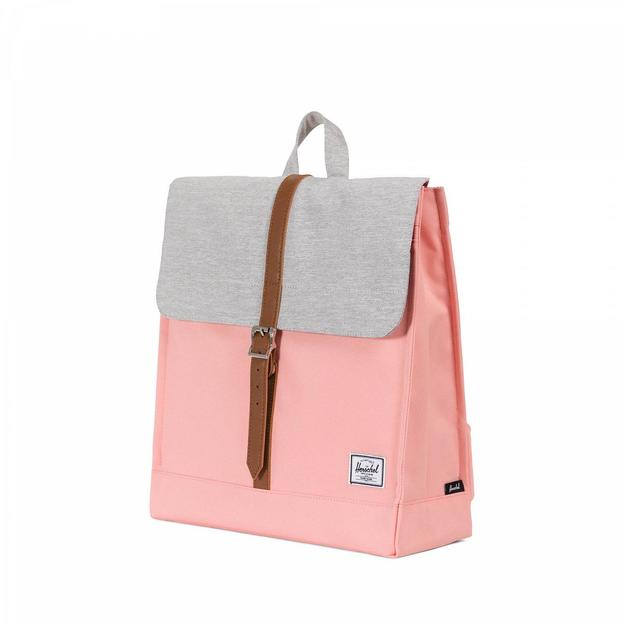 Herschel Rucksack City Mid-Volume Peach Light grey crosshatch Tan