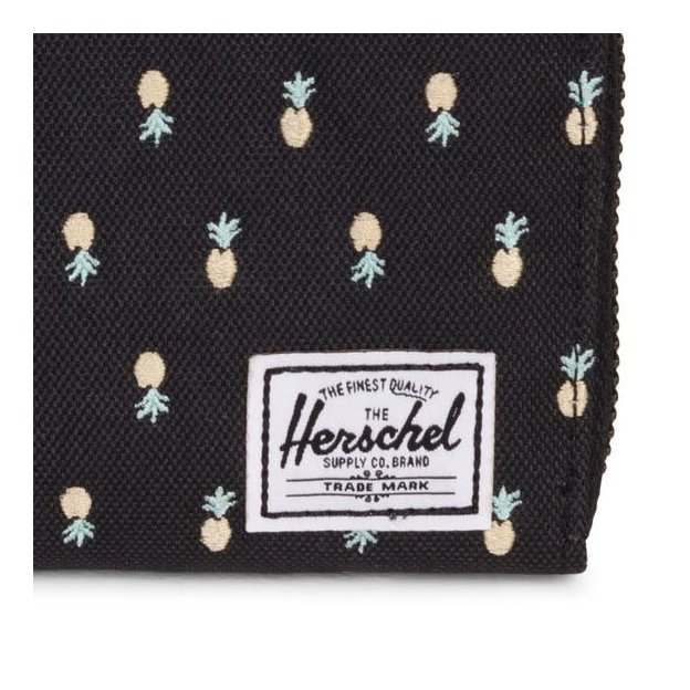Herschel Portemonnaie Thomas Black Pineapple Embroidery