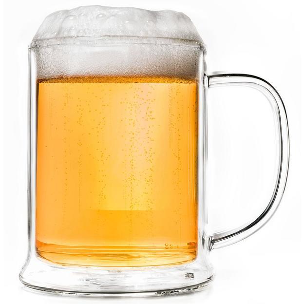 Chope de bière à double paroi avec effet rafraîchissant