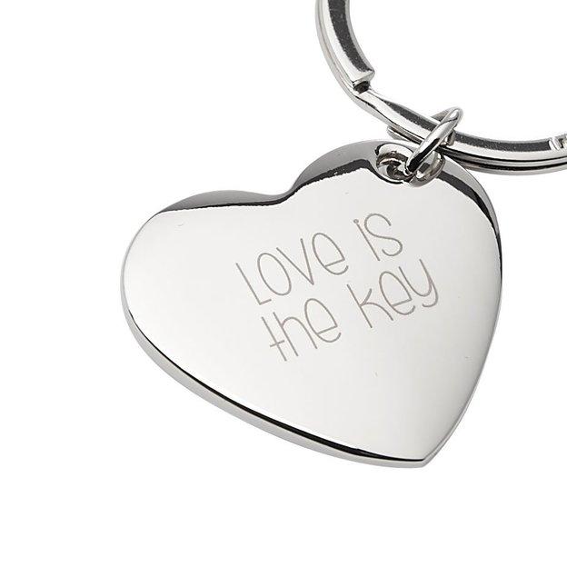 Personalisierbarer Schlüsselanhänger Herz