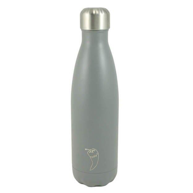 Chilly's Bottles, Trinkflasche-Hellgrau-Blanko-500ml