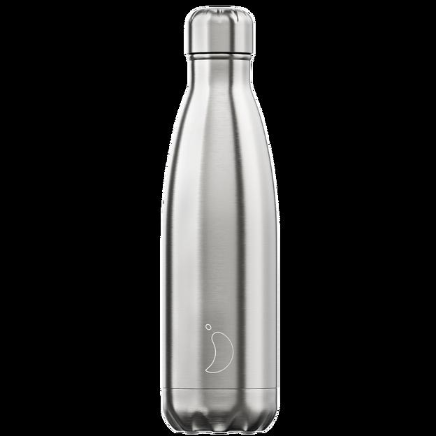 Chilly's Bottles, Trinkflasche-Silber-Standard-500ml