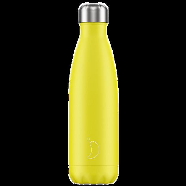 Chilly's Bottles, Trinkflasche-Gelb Neon-Standard-500ml