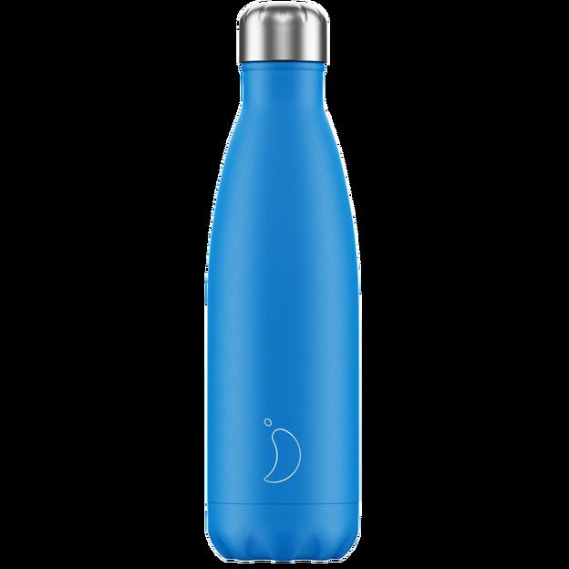 Chilly's Bottles, Trinkflasche-Blau Neon-Standard-500ml