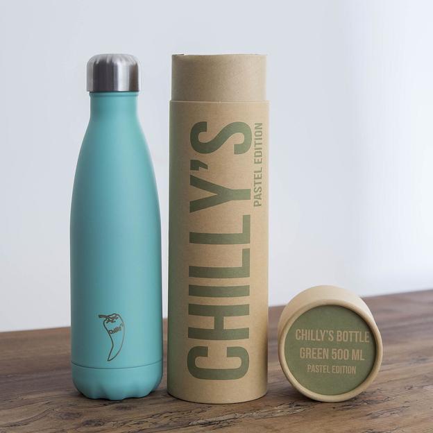 Chilly's Bottles, Trinkflasche-Grün Pastell-Standard-500ml