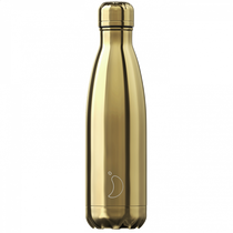 Chilly's Bottles, Trinkflasche-Chrom Gold-Standard-500ml