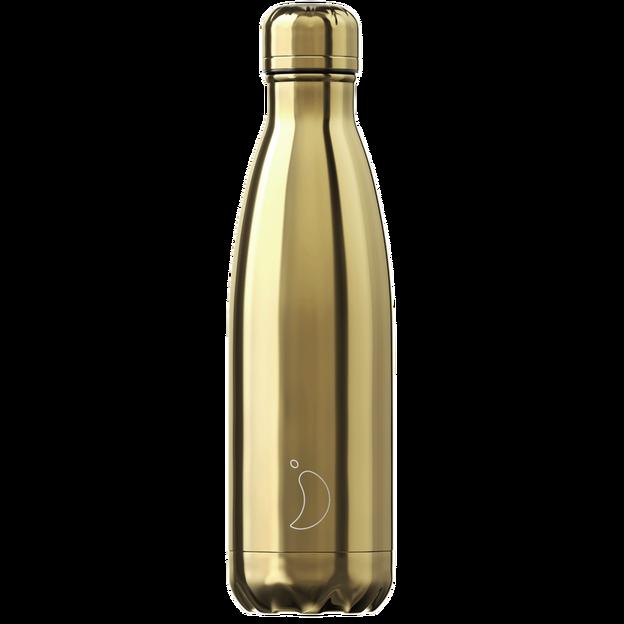 Chilly's Bottle, chromé or, standard, 500 ml