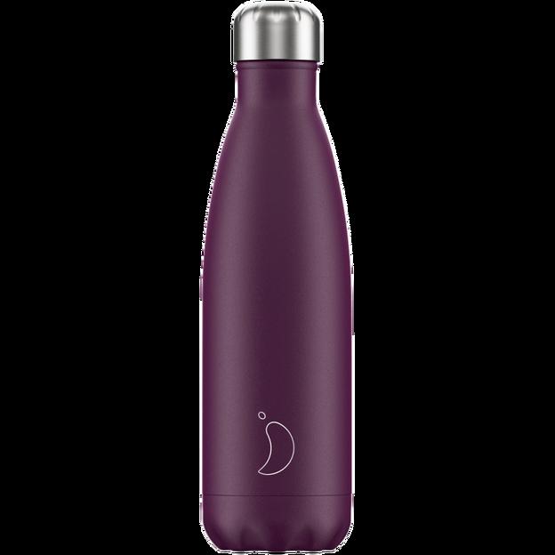 Chilly's Bottles, Trinkflasche-Violett Matt-Standard-500ml