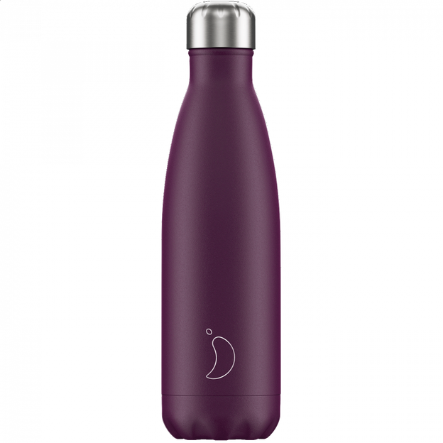 Chilly's Bottles, Trinkflasche-Violett Matt-Standard-500ml