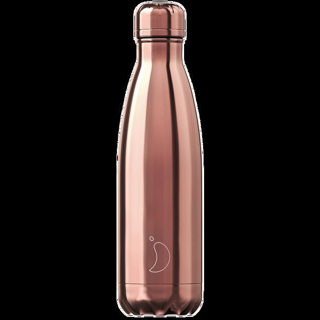 Chilly's Bottle, chromé or rose, standard, 500 ml