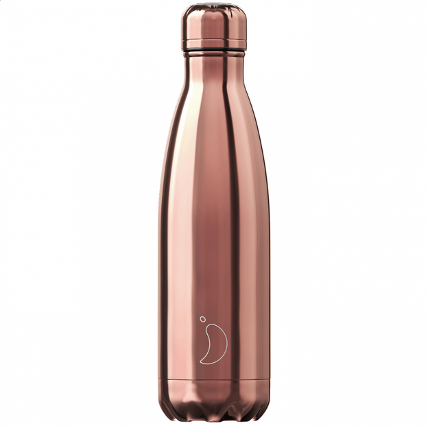 Chilly's Bottles, Trinkflasche-Chrom Rose Gold-Standard-500ml