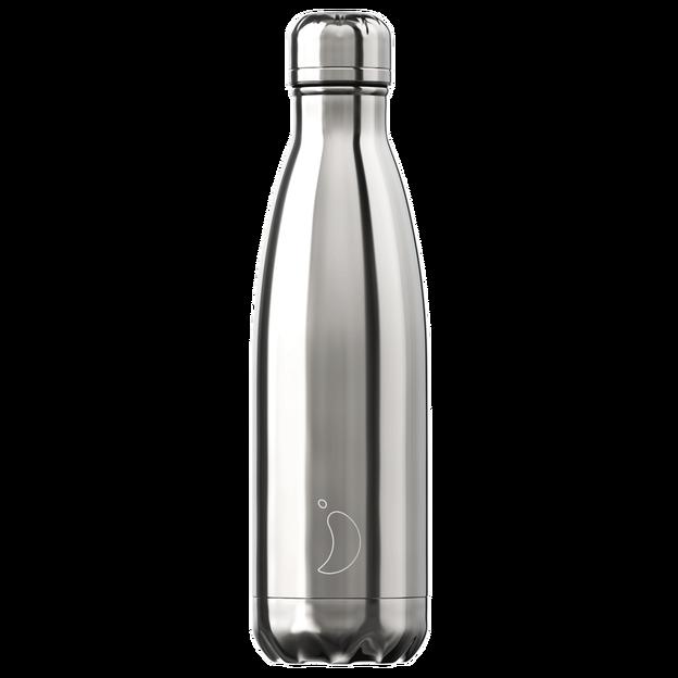 Chilly's Bottle, chromé argent, standard, 500 ml