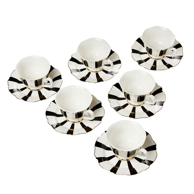 Tassen Set mit Unterteller 12-teilig
