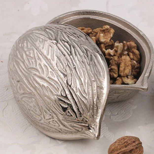 Dose Walnuss aus Aluminium 15 cm