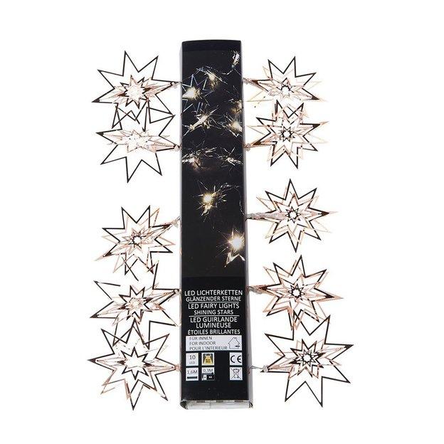 Lichterkette LED Kupfer Sterne