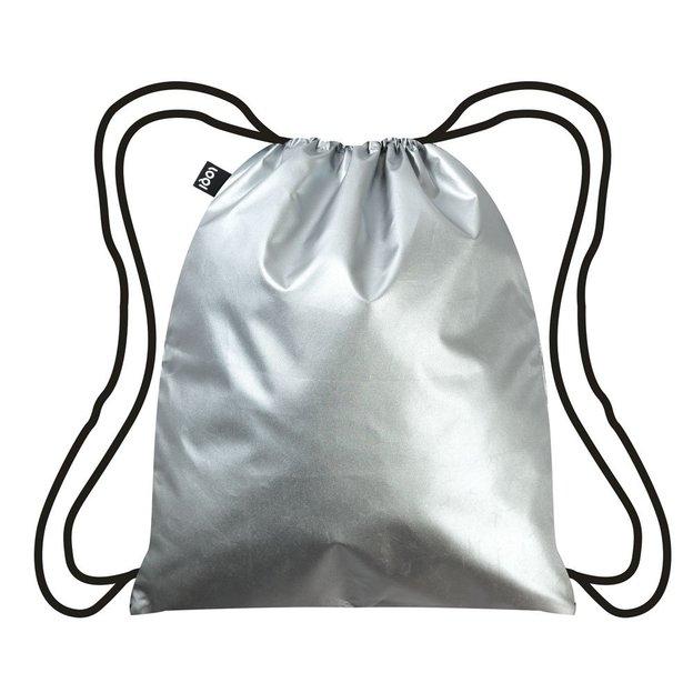 Rucksack Turnbeutel Metallic Silber