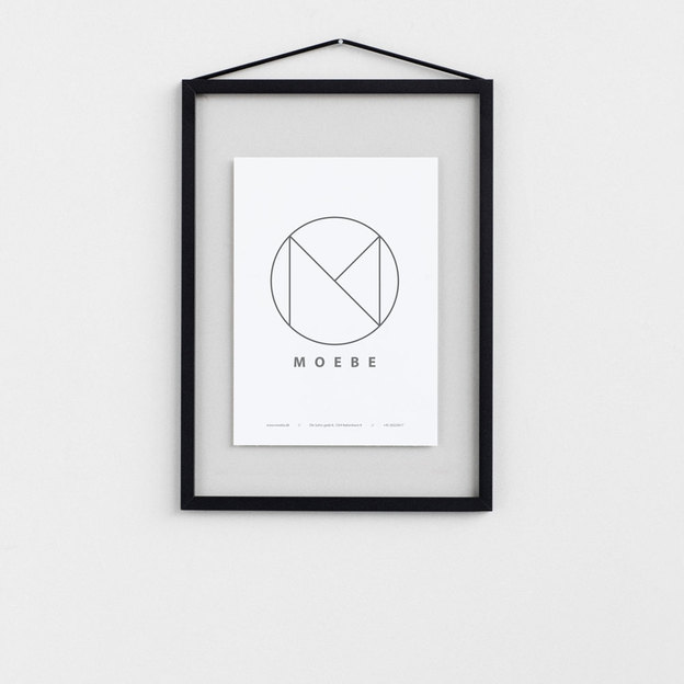 bilderrahmen frame von moebe a4 schwarz. Black Bedroom Furniture Sets. Home Design Ideas