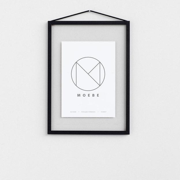 cadre photo moebe a4 noir. Black Bedroom Furniture Sets. Home Design Ideas