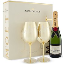 "Moët & Chandon Brut 75cl ""Golden Glasses"""