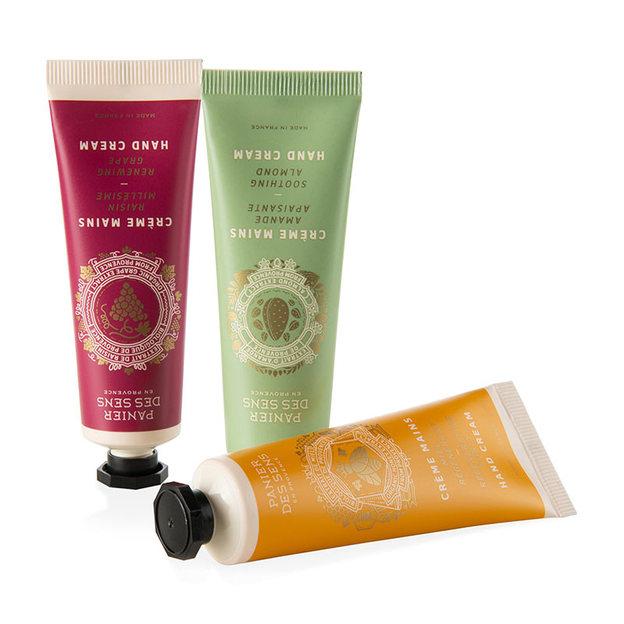 Set de crèmes pour les mains amande, miel, olives