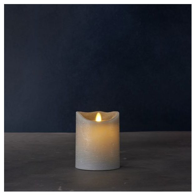 Sirius LED-Kerze Sara Exclusive mittel, Grau
