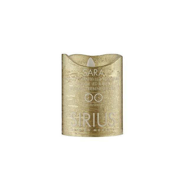 Sirius LED-Kerze Sara 10cm, Gold