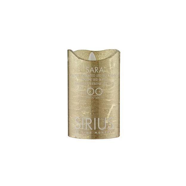 Sirius LED-Kerze Sara 12.5cm, Gold