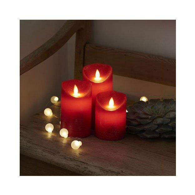 Sirius LED-Kerzen Set Sara 3-teilig rot