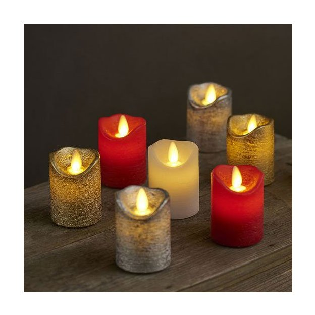 bougies led sara argent mini de sirius set de 2. Black Bedroom Furniture Sets. Home Design Ideas