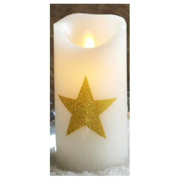 Sirius LED-Kerzen Sara Sternmotiv gold