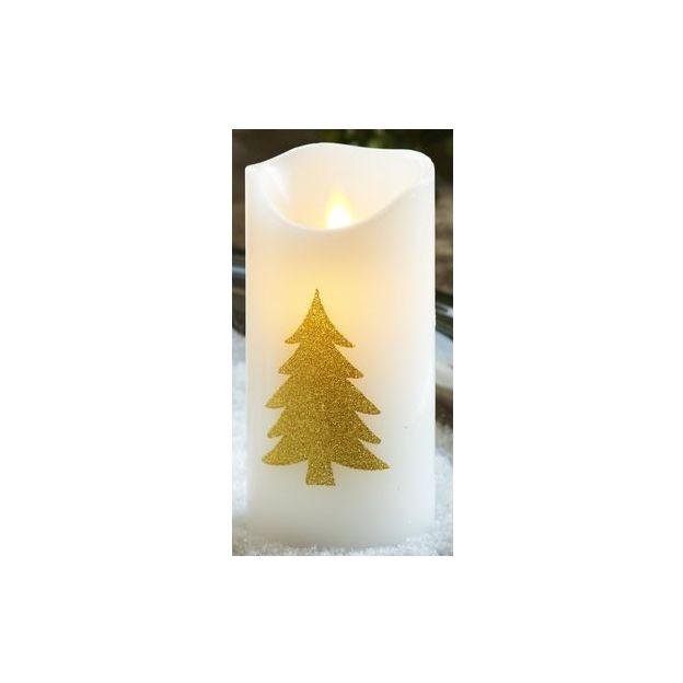 Sirius LED-Kerzen Sara Tannenmotiv Gold