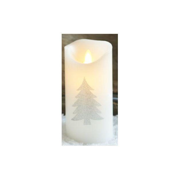 Sirius LED-Kerzen Sara Tannenmotiv Silber