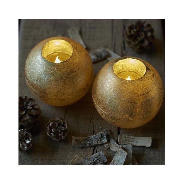 Sirius LED-Kerze Set Mona 2tlg gold