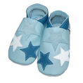 Leder Krabbelschuhe für Kinder Sterne