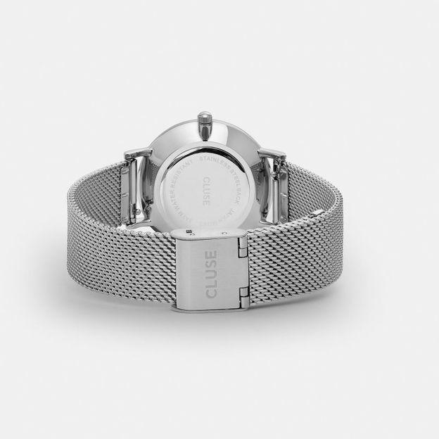 Montre Cluse Minuit Mesh Silver/White