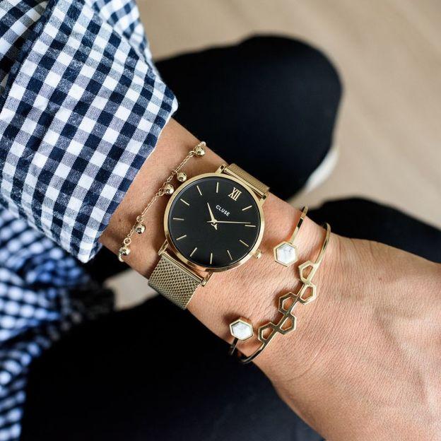 Montre Cluse Minuit Mesh Gold/Black