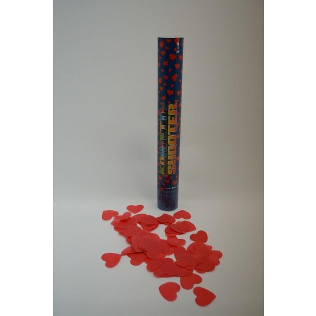 Canon à confettis pluie de coeurs, papier