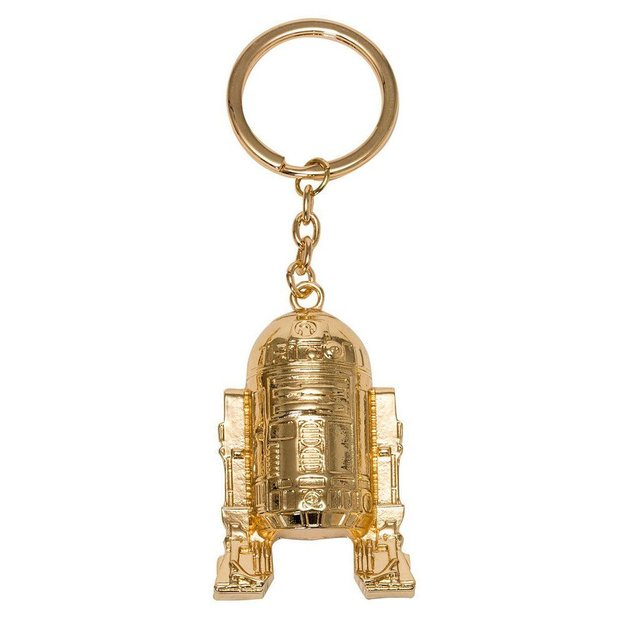 Star Wars Episode VIII Metall Schlüsselanhänger Golden R2-D2