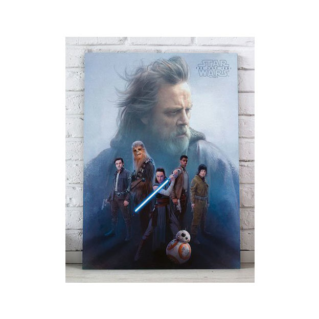 Poster sur verre Star Wars Episode VIII Les derniers Jedi 40 x 30 cm