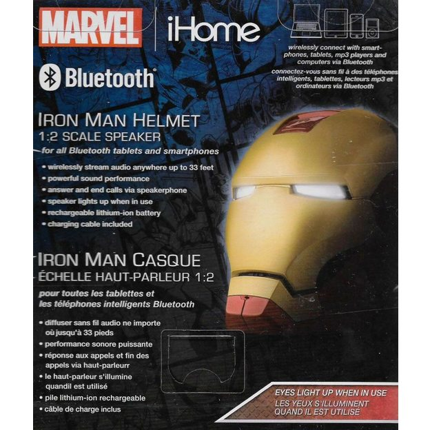 Marvel Comics Bluetooth-Lautsprecher Iron Man Helm