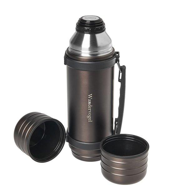 Bouteille isotherme personnalisée 1 litre avec 2 gobelets