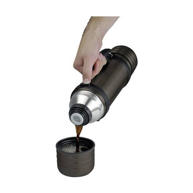 Personalisierbare 1L Thermoflasche mit 2 Trinkbecher