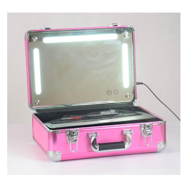 Coffret de maquillage avec miroir LED