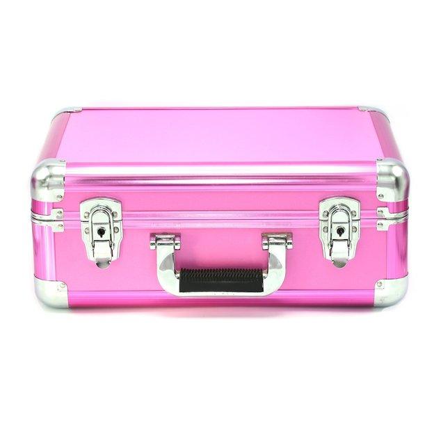 Schminkkoffer mit LED Licht Pink