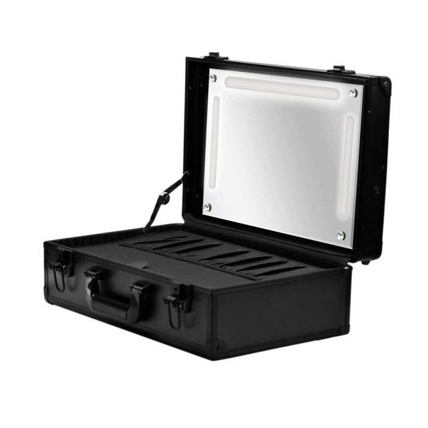 Schminkkoffer mit LED Licht Schwarz
