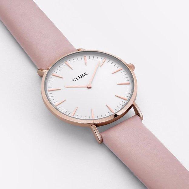 Cluse La Bohème Rose Gold White/Pink
